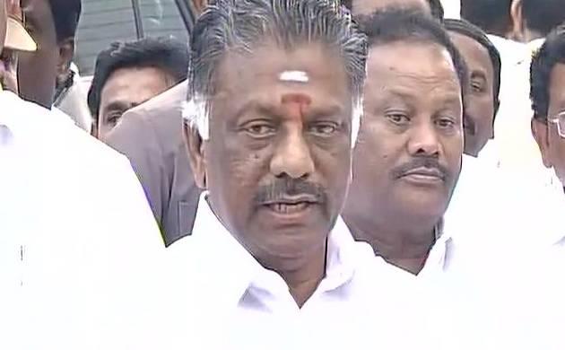 Tamil Nadu CM O Panneerselvam (Pic: ANI)
