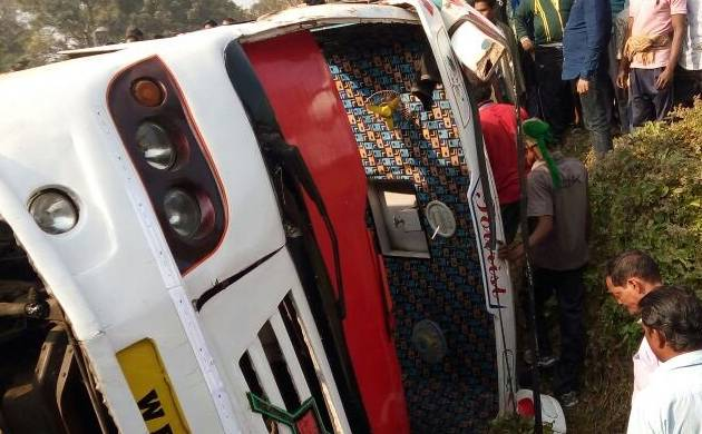40 tourists injured as bus overturns in Odisha Image Source ANI