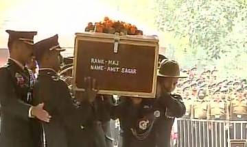 In Pics   J-K avalanche: Wreath laying ceremony of Major Amit Sagar who lost his life in Gurez sector