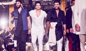 Lakme Fashion Week: Varun Dhawan, Arjun Kapoor sizzle ramp with their bromance at Kunal Rawal's show