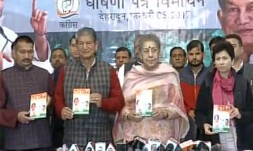 Congress party releases its manifesto for Uttarakhand assembly elections 2017