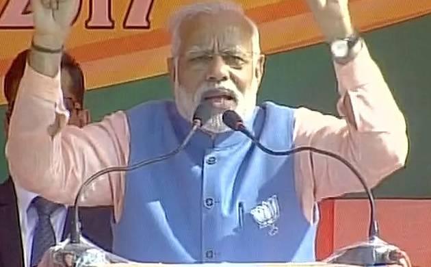 Prime Minister Narendra Modi in Kannauj (Pic: Twitter)