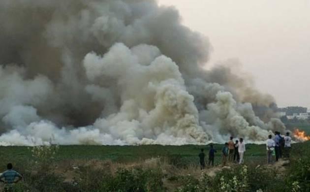 Bengaluru lake fire