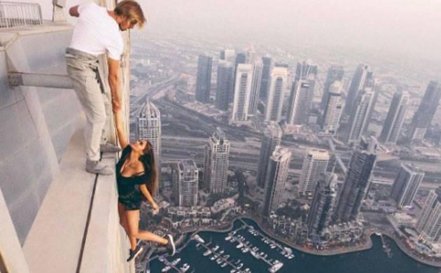 Russian Model risks life for near-death photoshoot (Pic courtesy: MAVRIN studios Instagram)