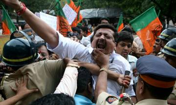 Tripura BJP president, 17 thousand cadres arrested for protesting against party worker's murder, released later