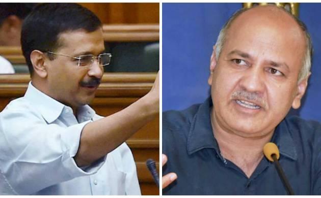 Combination picture of Delhi CM Arvind Kejriwal and Deputy CM Manish Sisodia