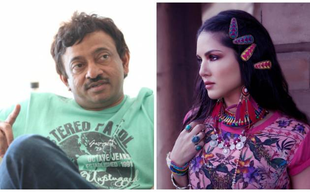A combination photo of Ram Gopal Varma and Sunny Leone