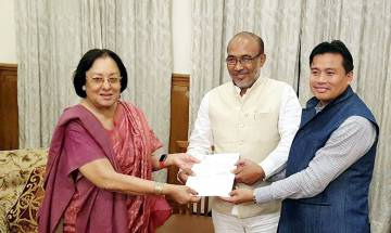 Governor Najma Heptulla invites BJP to form government in Manipur; Oath taking ceremony today