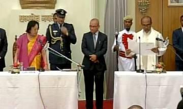 N Biren Singh takes oath as CM of Manipur in Imphal