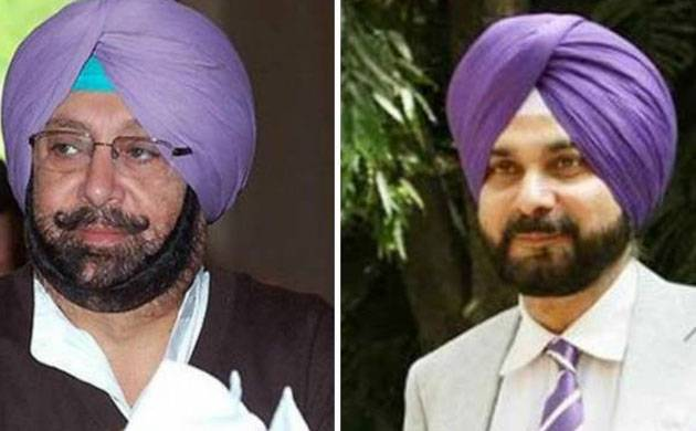 Navjot Singh Sidhu and Amarinder Singh (File photo)