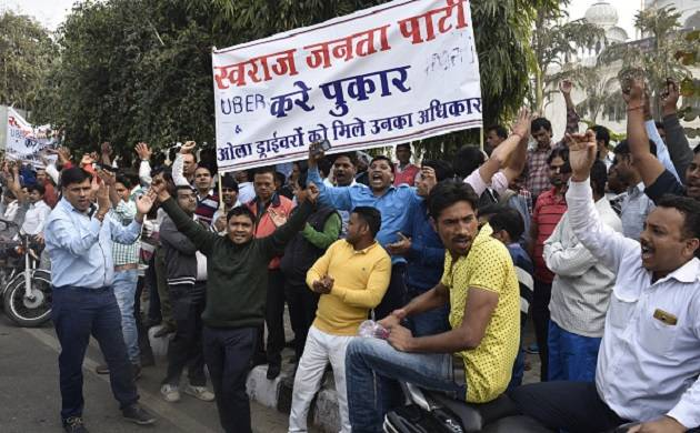 Drivers union protesting against Ola, Uber chew over launching own App