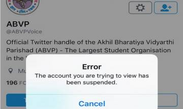Twitter suspends official accounts of ABVP, restores after massive online backlash