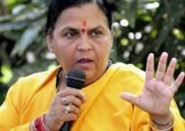 Uma Bharti leads cleanliness drive at Ganga's Kedarghat, Manikarnika and Jad Bharat