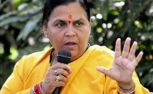 Uma Bharti leads cleanliness drive at Ganga ghats (Image: PTI)