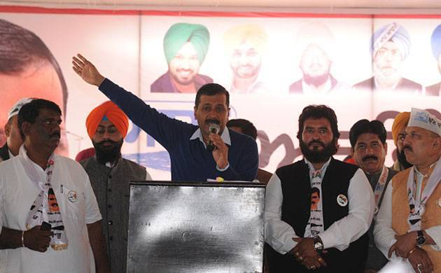 AAP chief Arvind Kejriwal addresses an election rally in Punjab. (File Photo)