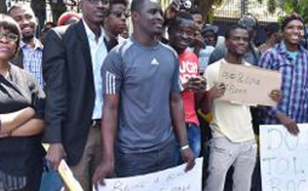 African students recently staged protest against 'racial attacks' (File Photo)