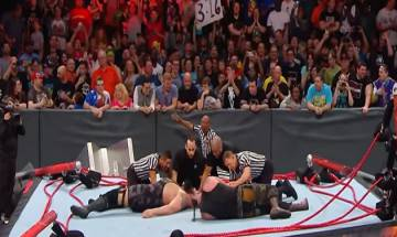 WWE RAW: When Big Show breaks the ring while trying to pin Braun Strowman (Watch here)