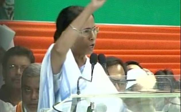 Chief minister Mamata Banerjee addresses a gathering in West Bengal. (ANI/Twitter)