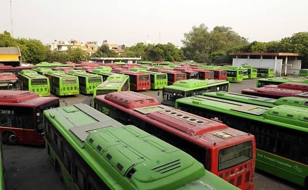 Delhi Transport Corporation buses