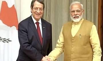 PM Modi, Swaraj meet Cyprus President to discuss bilateral cooperation