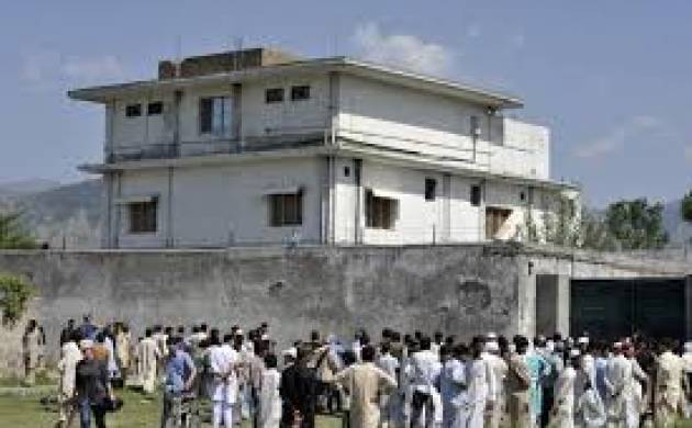 File photo of the Abbottabad hideout where Osama bin Laden was killed on May 2, 2011.