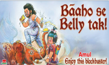 Amul's grand salute to SS Rajamouli's 'Baahubali: The Conclusion' | 'Baaho se Belly tak'