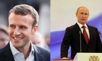 French elections: Russian President Vladimir Putin urges Emmanuel Macron to overcome mutual distrust and work together