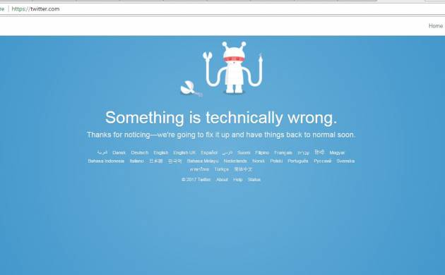 After Facebook down, Twitter suffers momentary outage