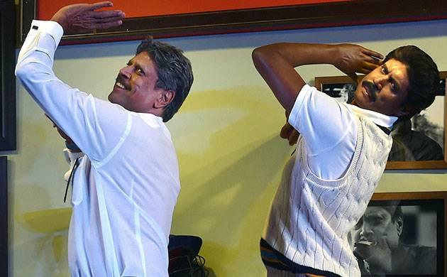 Kapil Dev unveils his wax statue at Madame Tussauds (Image source - PTI)
