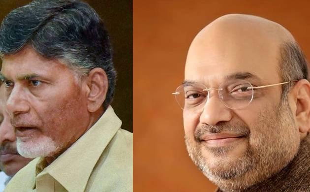 Amit Shah and Chandrababu Naidu