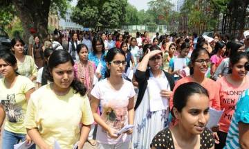 CBSE students stage protest against alleging discrepancies in Class 12th examination results