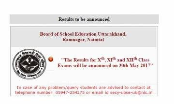 Uttarakhand UBSE class 10th and 12th Results 2017 announced; Check UK Board Results at ubse.uk.gov.in