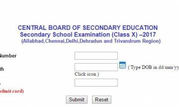 CBSE Class 10th Result 2017 declared for Delhi, Allabhad, Chennai, Dehradun and Trivandrum Region; check here