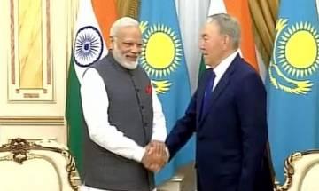 PM Modi meets Kazakhstan President Nazarbayev in Astana, India set for SCO
