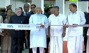 PM Narendra Modi inaugurates Kochi Metro in presence of E Sreedharan today, travels to Pathadippalam station