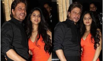 In Pics: Shah Rukh Khan's daughter Suhana Khan appears hand in hand with father, steals the show with smoking hot avatar