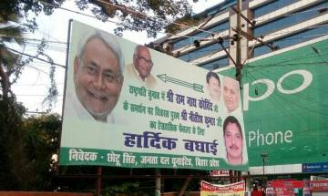 Mahagathbandhan rift continues? JDU posters congratulating Nitish's decision to support Ram Nath Kovind surface in Patna
