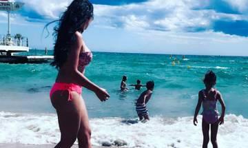 Maanayata Dutt sizzles in red bikini, step-daughter Trishla says 'beautiful'   See Instagram pic