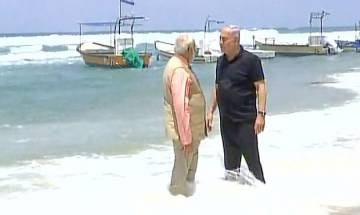 PM Modi, Benjamin Netanyahu enjoy some light moments at scenic Dor beach in Haifa
