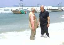 PM Modi, Benjamin Netanyahu enjoy some light moments at scenic Dor beach in Haifa