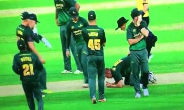 Watch: Luke Fletcher smashed on head during Natwest T20 Blast game, hospitalised