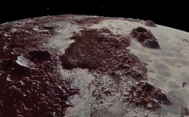 NASA shows Pluto's icy surface in breath-taking video