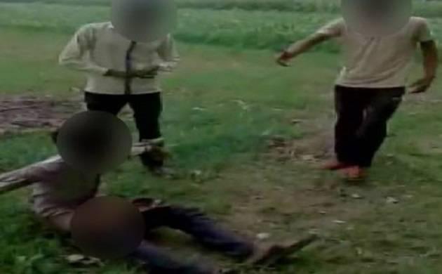 Minor stripped, abused and beaten up in Uttar Pradesh's Aligarh. (Source: ANI)
