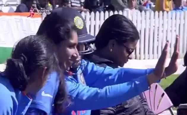 Watch: Mithali Raj, Veda krishnamurthy dancing on Harmanpreet's sixes