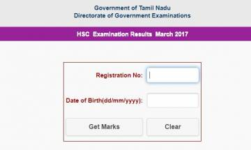Tamil Nadu HSC class 12th re-exam results 2017 announced by Tamil Nadu Directorate of Examinations; check here