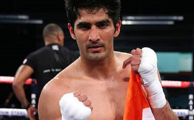 Vijender won the match by 96-93 95-94 95-94 to win his second title