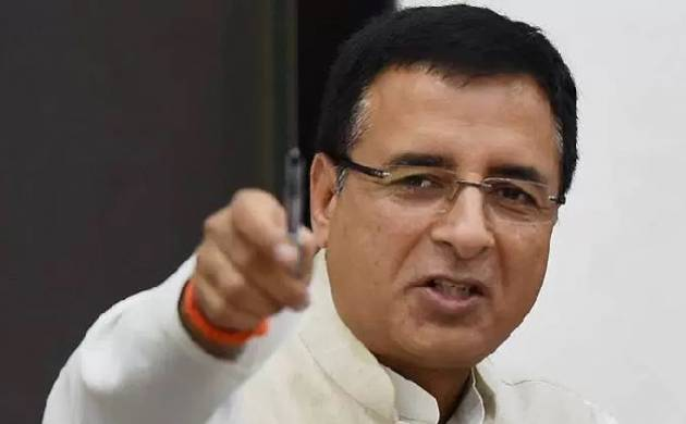 Congress leader Randeep Singh Surjewala said that the BJP is pressurizing on police to save alleged stalking accused. (Source: PTI)
