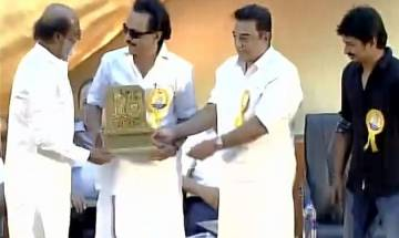 75 years of Murasoli: Rajinikanth, Kamal Haasan share stage at mega DMK event