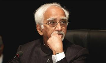 Outgoing Vice President Hamid Ansari: There is a sense of insecurity among Muslims
