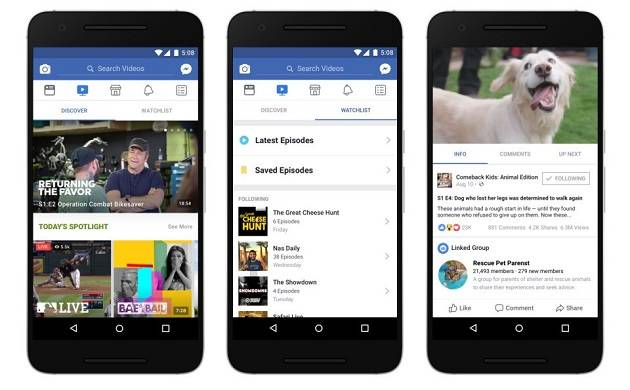 Facebook introduces Watch, its redesigned video platform